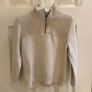 NWOT cream sweater for boys size 5